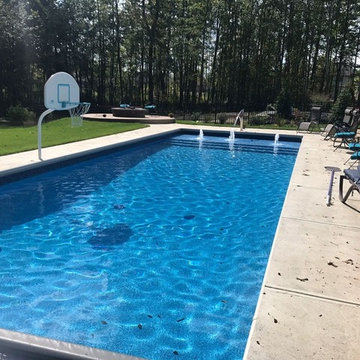 Pool Remodel with Modern Water Features