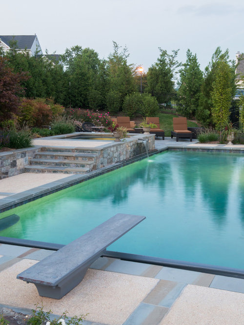 In ground hot tub houzz for Pool design richmond va
