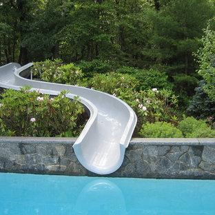 Pool Slide on hillside