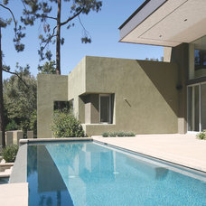 Contemporary Pool by Equinox Architecture Inc. - Jim Gelfat