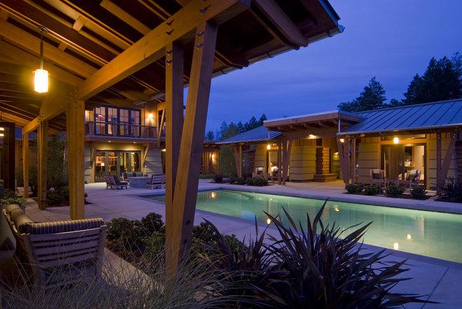Rustic Pool by Saint Dizier Design