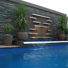 Contemporary Pool by H2O Designs