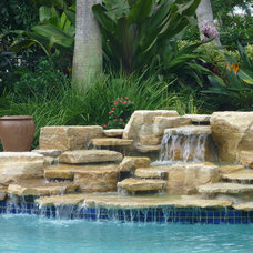 Traditional Pool by Waterfalls Fountains & Gardens
