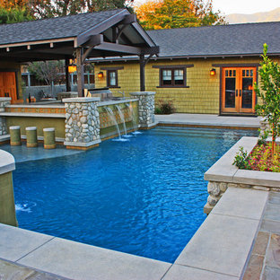 Pool with attached BBQ and Bar