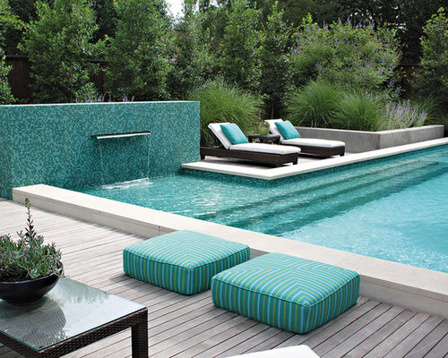 Shallow pool lounge area home design ideas pictures for Pool design houzz