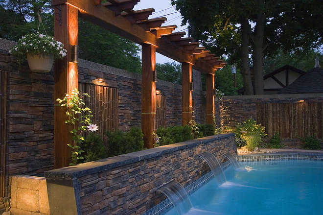 Asian Pool by K West Images, Interior and Garden Photography