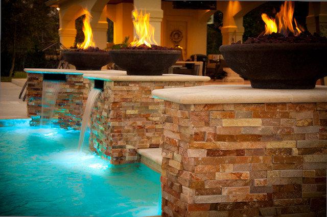 Contemporary Pool by J Paul Custom Pools