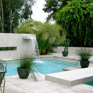 Waterfall Modern Pool Houzz