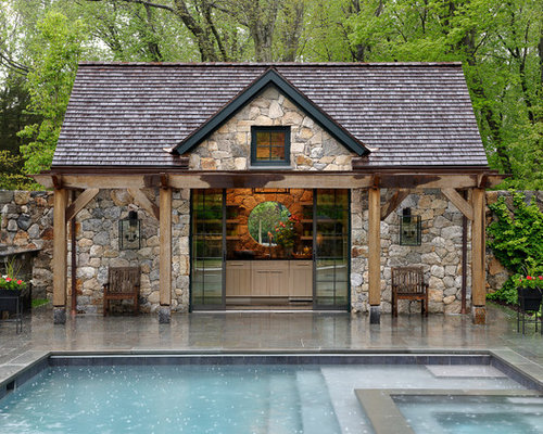 Our 11 Best Rustic Pool House Ideas & Decoration Pictures | Houzz