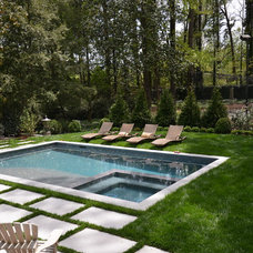 Contemporary Pool by Marcia Weber Gardens to Love