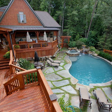 Traditional Pool by Joe A. Gayle & Associates