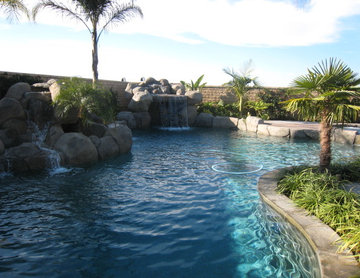pools, bbq, spa, ponds, water features, hardscapes, firepits, custom