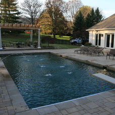Traditional Pool by Berriz Design Build Group
