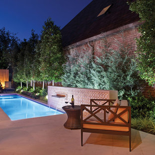 Inspiration for a transitional rectangular pool remodel in Dallas