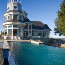 Traditional Pool by DesRosiers Architects