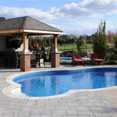 Modern Pool by Evergreen Landscapes