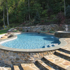 Traditional Pool by Mid-American Gunite Pools