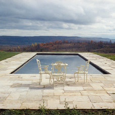 Traditional Pool by Owen Landscape Architect