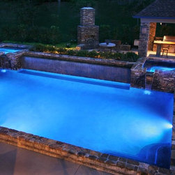 Pools - LED lighting really makes a difference. Check out Outdoor Lighting by Kichler at http://www.kichler.com/