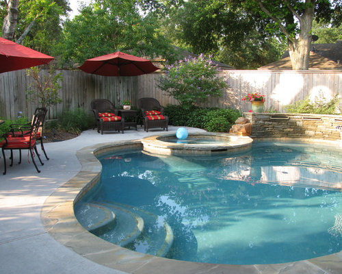 Oklahoma flagstone coping houzz for Pool design okc