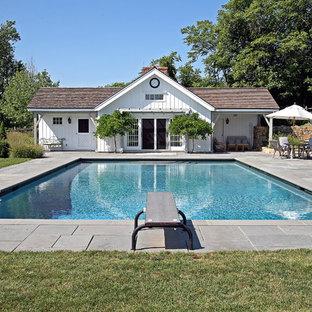 Idéer för en klassisk pool, med poolhus