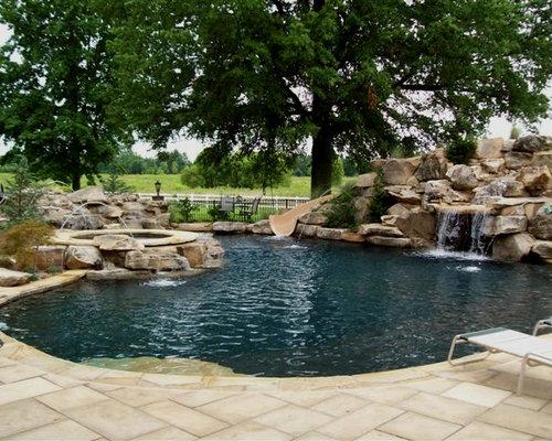Courtyard Garden And Outdoor Courtyard Design Ideas Renovations Photos With A Water Slide