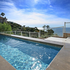 Contemporary Pool by V.I.Photography & Design