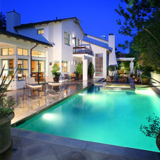 Mediterranean Pool by V.I.Photography & Design