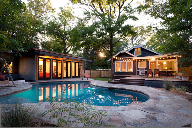 Rustic Pool by Rick & Cindy Black Architects
