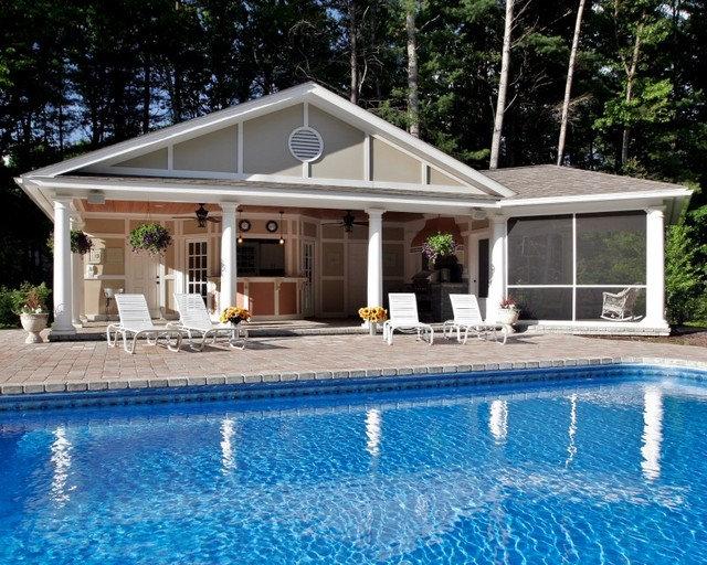 Mediterranean Pool by Teakwood Builders, Inc.
