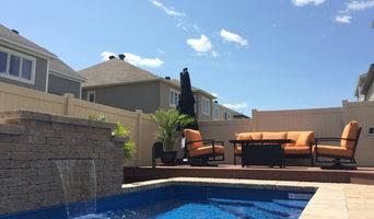 Poolside patio set