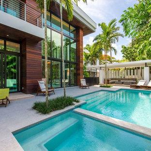 Poolside Patio Sliding Glass Doors