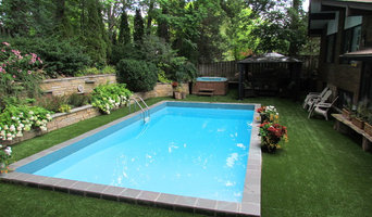 Warming and softening around the pool concrete pad