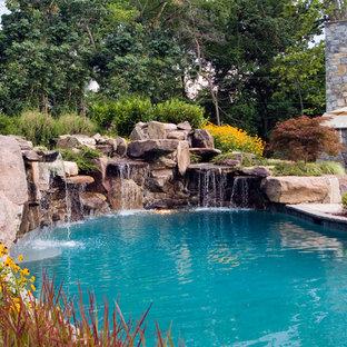 Modelo de piscina con fuente clásica tipo riñón