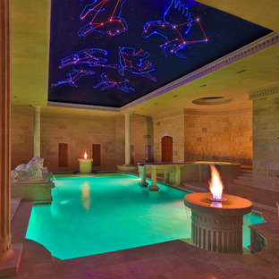 Example of an eclectic pool design in Dallas