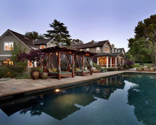 Large elegant pool photo in San Francisco
