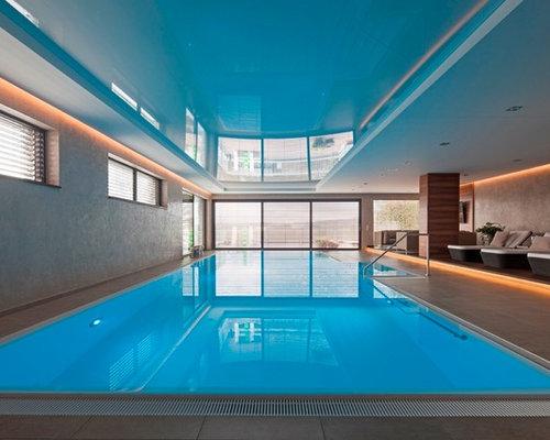 groer gefliester klassischer indoor pool in rechteckiger form in dresden - Pool Design Ideen Bilder