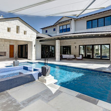 Contemporary Pool by Premier Partners Homes