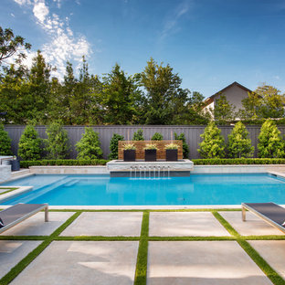 Example Of A Large Trendy Pool Design In Dallas