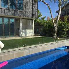 modern outdoor living melbourne. preston, vic. modern low maintenance pool landscaping outdoor living melbourne