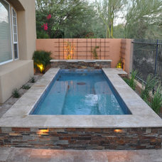 Contemporary Pool by Straight Line Landscape