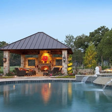Traditional Pool by Southwest Fence & Deck