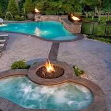 Traditional Pool by Shehan Pools