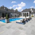 Cold Spring Harbor Gunite Pool Spa Traditional Pool New York By Platinum Site Development