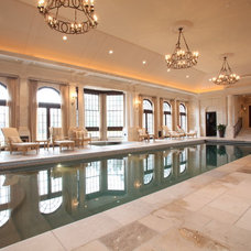 Traditional Pool by South Shore Millwork