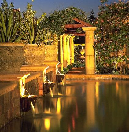 Mediterranean Pool by Broussard Associates Landscape Architects