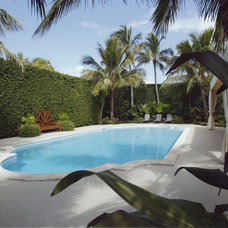 Traditional Pool by BROWN DAVIS INTERIORS, INC.