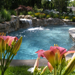Private XL hot tub and landscape.