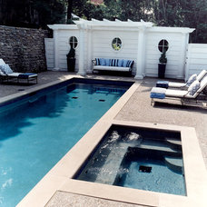 traditional pool by J.A. Smith Construction & Design Studio