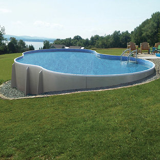 Radiant Free Form Semi In Ground Pool in Hill
